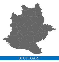 high quality map city of germany vector image