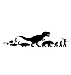History of life on earth silhouette timeline of vector
