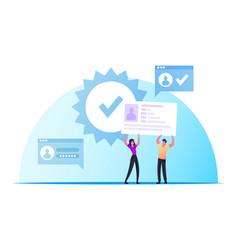 Id verification and biometric data scanning vector