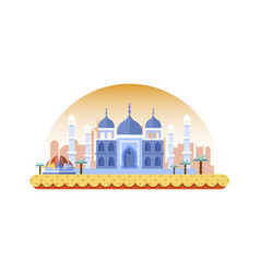 India icon in flat style vector
