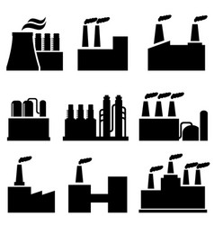 industrial buildings factory and pollution vector image