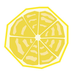 Isolated geometric papaya vector