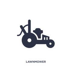 Lawnmower icon on white background simple element vector