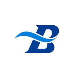 letter b logo icon vector image