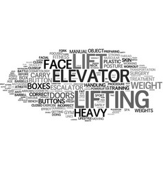 Lifting word cloud concept vector