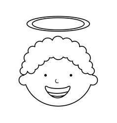 Little boy angel character vector