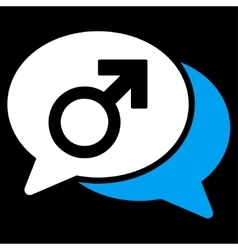 Male Chat Icon vector image