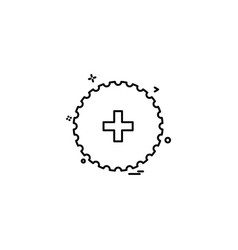 Medical cicle plus hospltal sign icon design vector