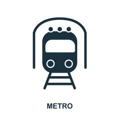 metro icon in flat style icon design vector image