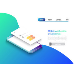 mobile app development isometric vector image