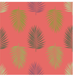 Modern tropical palm leaves seamless pattern vector
