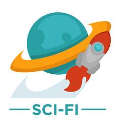 Movie genre sci-fi cinema icon space vector