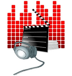 Movie theater background vector