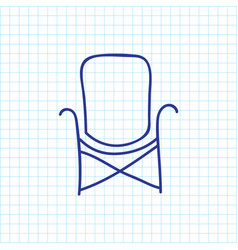 of camping symbol on chair vector image