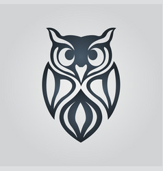 owl logo icon design vector image