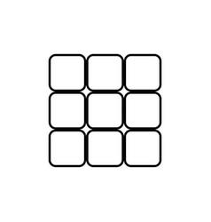 panel enter black color icon vector image