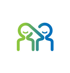 People couple connection share logo vector