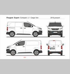 Peugeot expert cargo compact van l1 2016-present vector