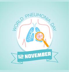 Pneumonia day 12 november vector