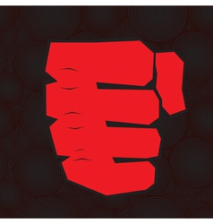 red clenched fist vector image