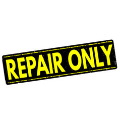 repair only stamp vector image