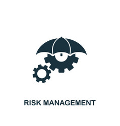 risk management icon creative element design from vector image