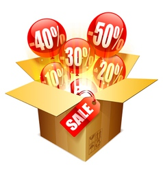 Sale box vector image