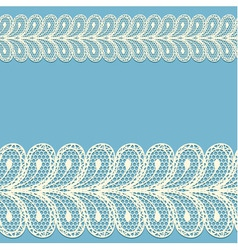 Seamless lacy borders vector