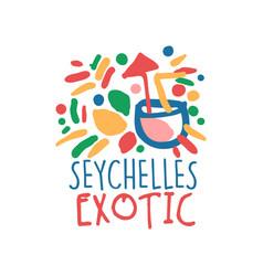 seychelles island logo template original design vector image