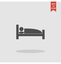 Sleeping symbol Flat design style vector image