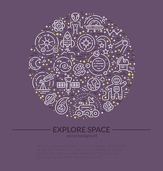 Space Banner vector image