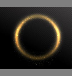 Sparkle glitter circle round shape frame glow vector