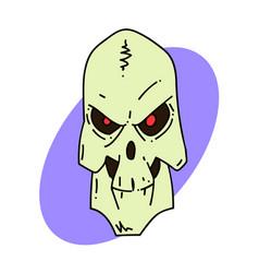 spooky skull vector image