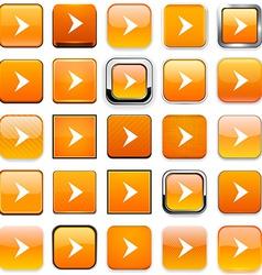 Square orange arrow icons vector