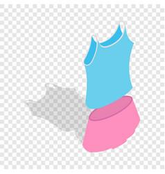 tennis woman uniform isometric icon vector image