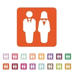 The man and woman icon Partners And Human symbol vector image