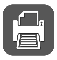 The printer icon Printing symbol Flat vector image