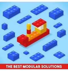 Toy Block Ship Games Isometric vector