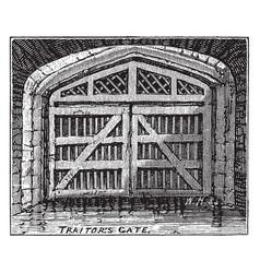 Traitors gate observatory vintage engraving vector