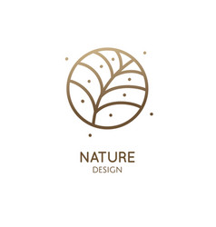tropical plant round logo vector image