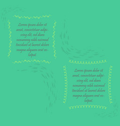 Two abstract frames with sample text vector