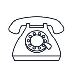 vintage telephone communication call talk icon vector image