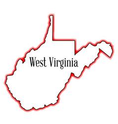 West virginia outline map vector