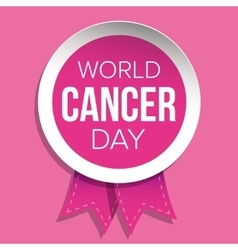 World Cancer Day Pink ribbon vector image