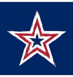 American flag star grunge element symbol vector