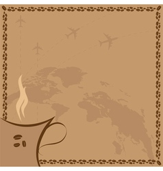 coffee and flight vector image vector image
