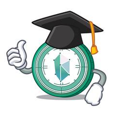 Graduation kyber network character cartoon vector