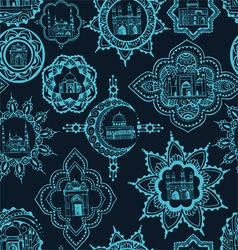 seamless background with Asian designs vector image vector image