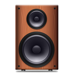 stereo speaker with no cover on a white background vector image