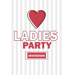 template for ladies night party invitation vector image vector image